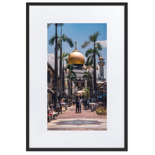 Load image in gallery, MASJID SULTAN Prints 39in x 24in (36cm x 61cm) / Europe only - Black frame with mat - Thibault Abraham