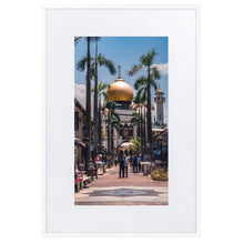 Load image in gallery, MASJID SULTAN Prints 39in x 24in (36cm x 61cm) / Europe only - White frame with mat - Thibault Abraham