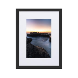 MYSTICAL SUNSET Prints 12in x 18in (30cm x 45cm) / Europe only - Black frame with mat - Thibault Abraham