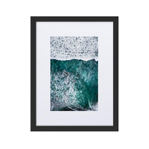 PARADISE SURFERS Prints 12in x 18in (30cm x 45cm) / Europe only - Black frame with mat - Thibault Abraham