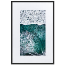 Load image in gallery, PARADISE SURFERS Prints 39in x 24in (36cm x 61cm) / Europe only - Black frame with mat - Thibault Abraham
