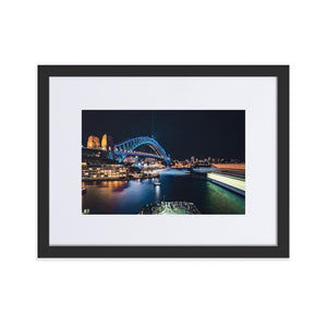 SYDNEY HARBOR Prints 12in x 18in (30cm x 45cm) / Europe only - Black frame with mat - Thibault Abraham