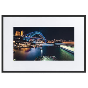 SYDNEY HARBOR Prints 24in x 36in (61cm x 91cm) / Europe only - Black frame with mat - Thibault Abraham
