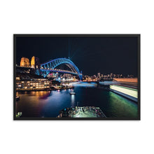 Load the image into the gallery, SYDNEY HARBOR Posters 24in x 36in (61cm x 91cm) / Framed - Thibault Abraham