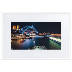 SYDNEY HARBOR Prints 24in x 36in (61cm x 91cm) / Europe only - White frame with mat - Thibault Abraham