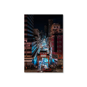 TEMPLE STREET NIGHT MARKET Prints 12in x 18in (30cm x 45cm) / Unframed - Thibault Abraham