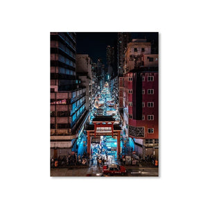 TEMPLE STREET NIGHT MARKET Prints 18in x 24in (45cm x 61cm) / Unframed - Thibault Abraham