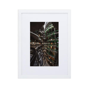 THE HIVE Posters 12in x 18in (30cm x 45cm) / Europe only - White frame with mat - Thibault Abraham