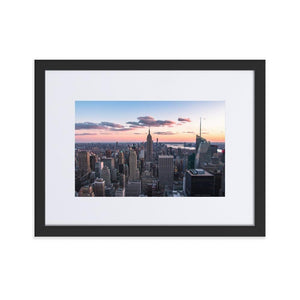 TOP OF THE ROCK Prints 12in x 18in (30cm x 45cm) / Europe only - Black frame with mat - Thibault Abraham