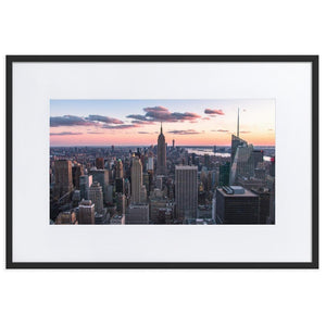 TOP OF THE ROCK Prints 24in x 36in (61cm x 91cm) / Europe only - Black frame with mat - Thibault Abraham