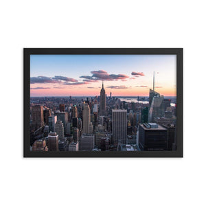 TOP OF THE ROCK Prints 12in x 18in (30cm x 45cm) / Framed - Thibault Abraham