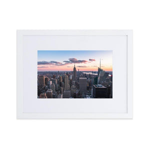 TOP OF THE ROCK Posters 12in x 18in (30cm x 45cm) / Europe only - White frame with mat - Thibault Abraham