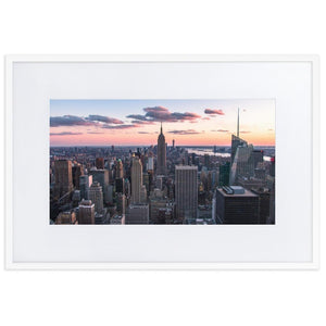 TOP OF THE ROCK Posters 24in x 36in (61cm x 91cm) / Europe only - White frame with mat - Thibault Abraham