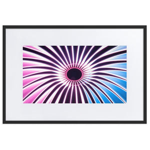 VORTEX Prints 24in x 36in (61cm x 91cm) / Europe only - Black frame with mat - Thibault Abraham