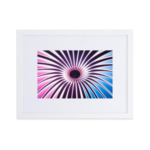 VORTEX Posters 12in x 18in (30cm x 45cm) / Europe only - White frame with mat - Thibault Abraham