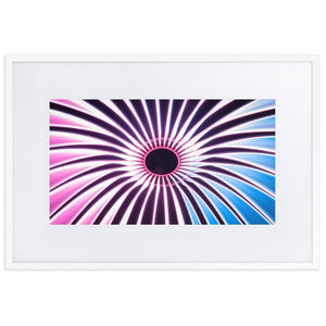 VORTEX Posters 24in x 36in (61cm x 91cm) / Europe only - White frame with mat - Thibault Abraham