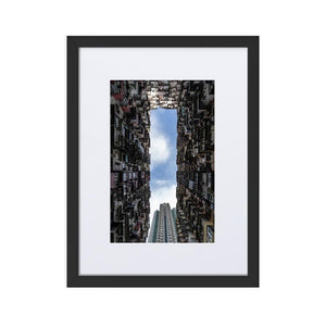 YICK FAT BUILDING II Prints 12in x 18in (30cm x 45cm) / Europe only - Black frame with mat - Thibault Abraham