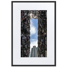 Load image in gallery, YICK FAT BUILDING II Prints 39in x 24in (36cm x 61cm) / Europe only - Black frame with mat - Thibault Abraham