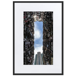YICK FAT BUILDING II Prints 24in x 36in (61cm x 91cm) / Europe only - Black frame with mat - Thibault Abraham