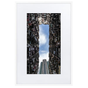 YICK FAT BUILDING II Posters 24in x 36in (61cm x 91cm) / Europe only - White framed with mat - Thibault Abraham