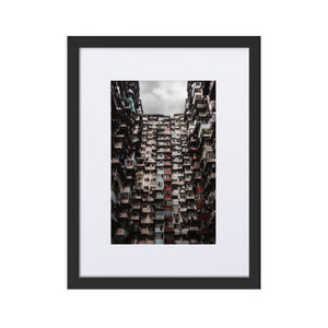 YICK FAT BUILDING I Prints 12in x 18in (30cm x 45cm) / Europe only - Black frame with mat - Thibault Abraham
