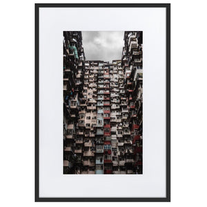 YICK FAT BUILDING I Prints 24in x 36in (61cm x 91cm) / Europe only - Black frame with mat - Thibault Abraham