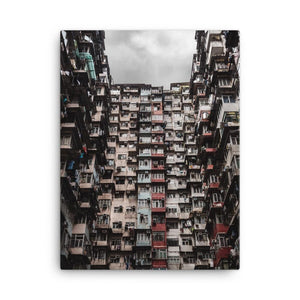 YICK FAT BUILDING I Posters 18in x 24in (45cm x 61cm) / Canvas - Thibault Abraham