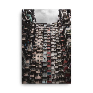 YICK FAT BUILDING I Posters 24in x 36in (61cm x 91cm) / Canvas - Thibault Abraham