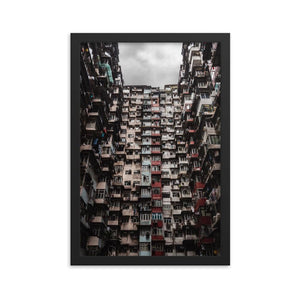 YICK FAT BUILDING I 12in Posters x 18in (30cm x 45cm) / Framed - Thibault Abraham