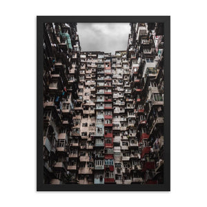 YICK FAT BUILDING I 18in Posters x 24in (45cm x 61cm) / Framed - Thibault Abraham