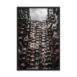 YICK FAT BUILDING I 24in Posters x 36in (61cm x 91cm) / Framed - Thibault Abraham