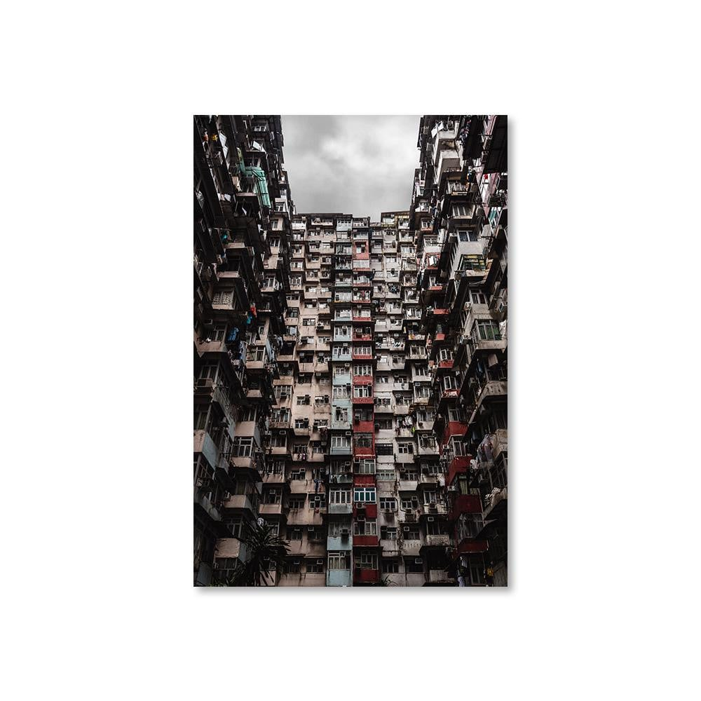 YICK FAT BUILDING I Prints 12in x 18in (30cm x 45cm) / Unframed - Thibault Abraham