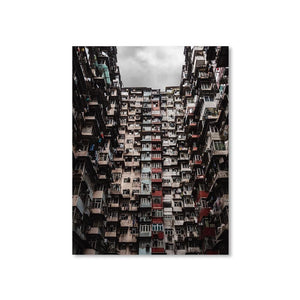 YICK FAT BUILDING I Prints 18in x 24in (45cm x 61cm) / Unframed - Thibault Abraham