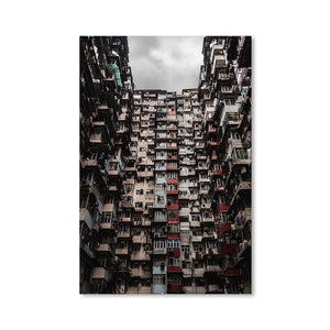 YICK FAT BUILDING I Prints 24in x 36in (61cm x 91cm) / Unframed - Thibault Abraham
