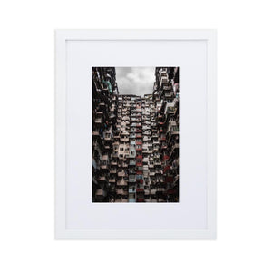YICK FAT BUILDING I Posters 12in x 18in (30cm x 45cm) / Europe only - White framed with mat - Thibault Abraham
