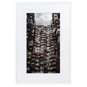 YICK FAT BUILDING I Posters 24in x 36in (61cm x 91cm) / Europe only - White framed with mat - Thibault Abraham