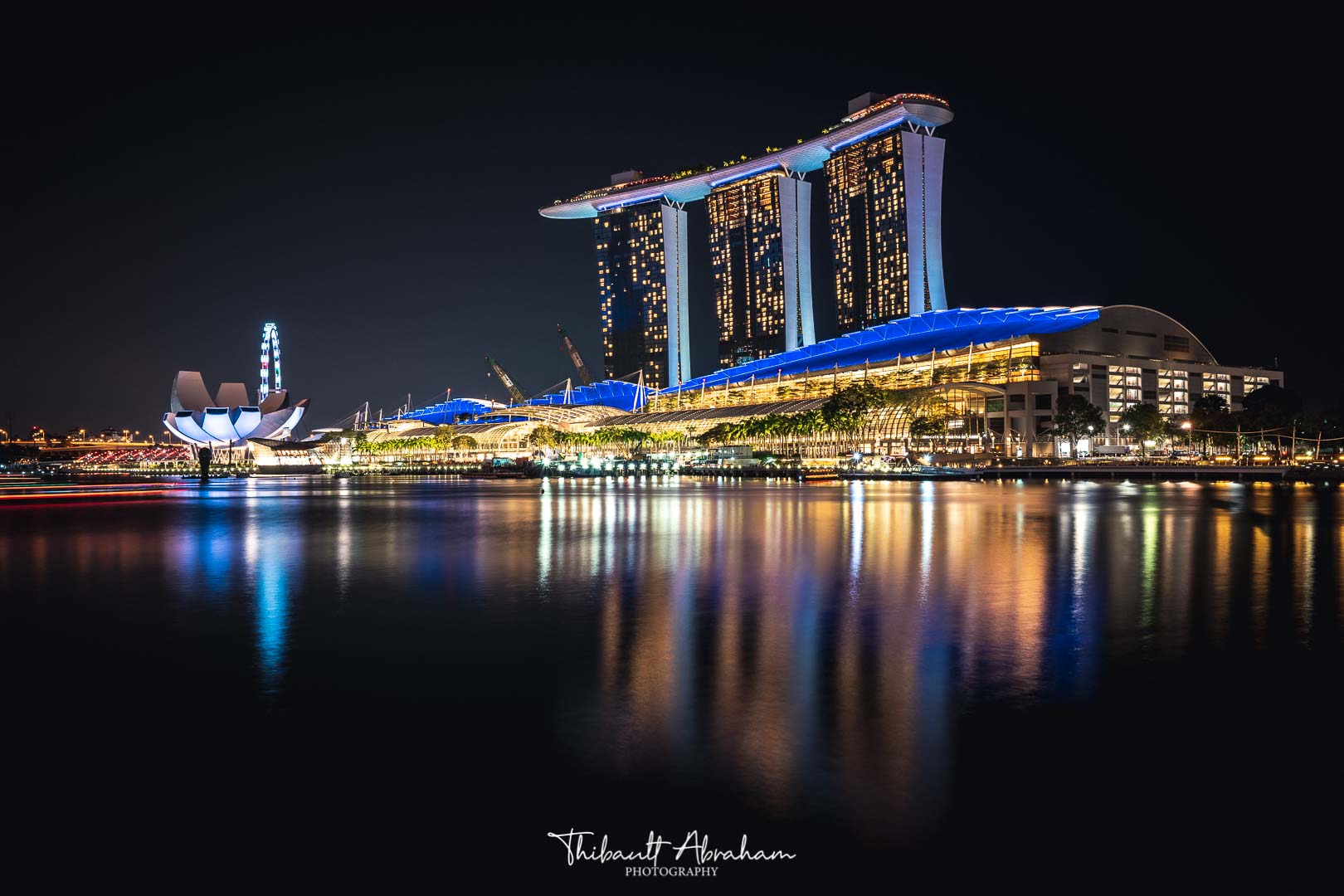 Night photograph of Marina Bay Sands in Singapore