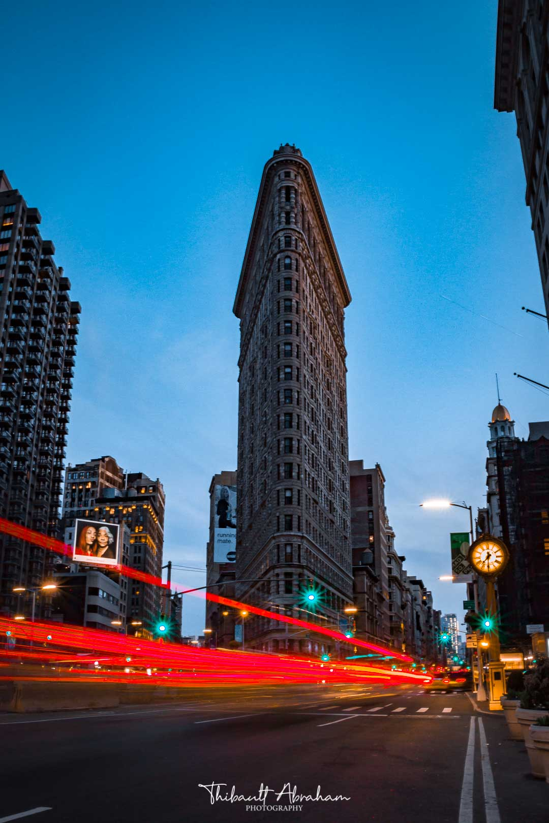 Flat Iron Building during blue hour in Manhattan