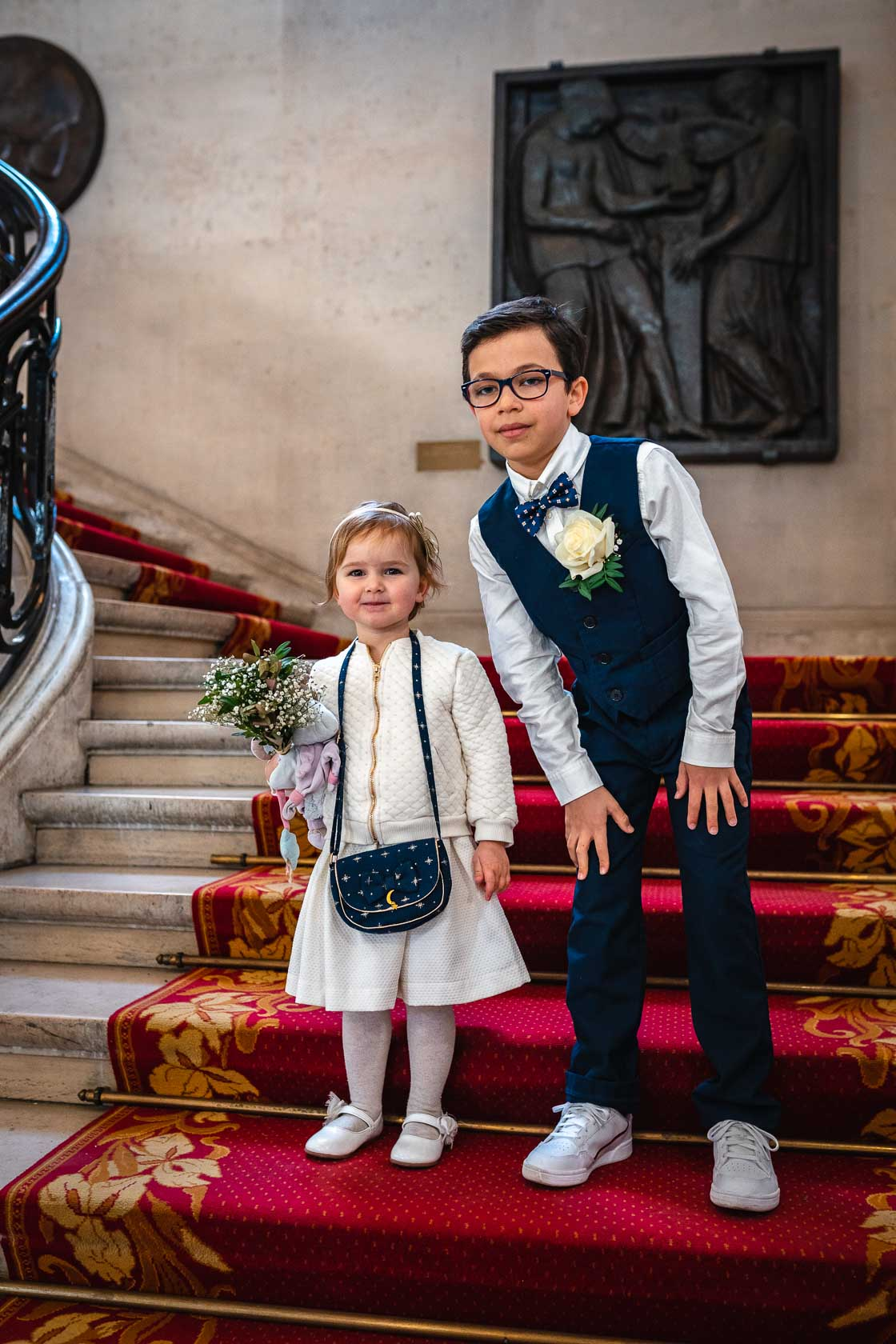 Portrait of children wedding Town Hall of the 15th in Paris