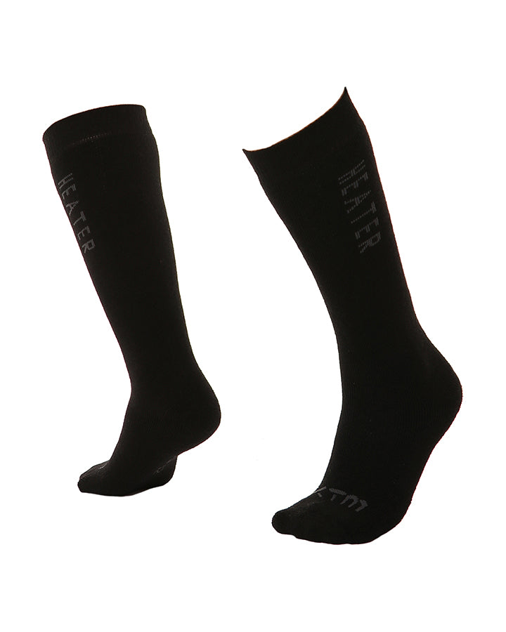 XTM Heater Kids Ski Socks | Black- Shop Skis and snow gear online nz - snowscene