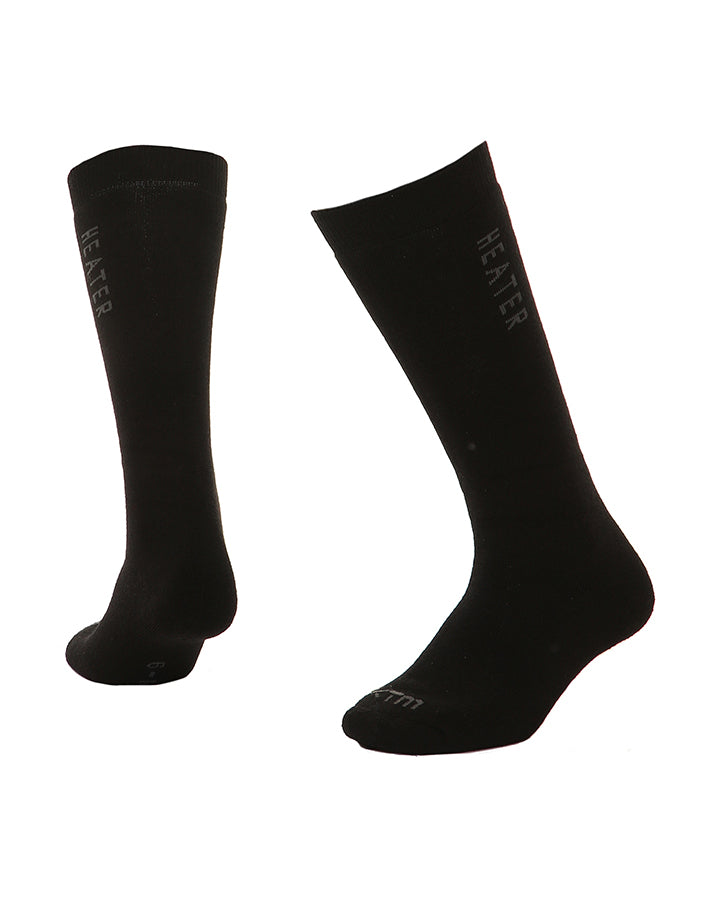 XTM Heater Ski Socks | Black- Shop Skis and snow gear online nz - snowscene