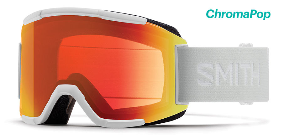 2020 Smith Squad Chromapop Goggle | White- Shop Skis and snow gear online nz - snowscene