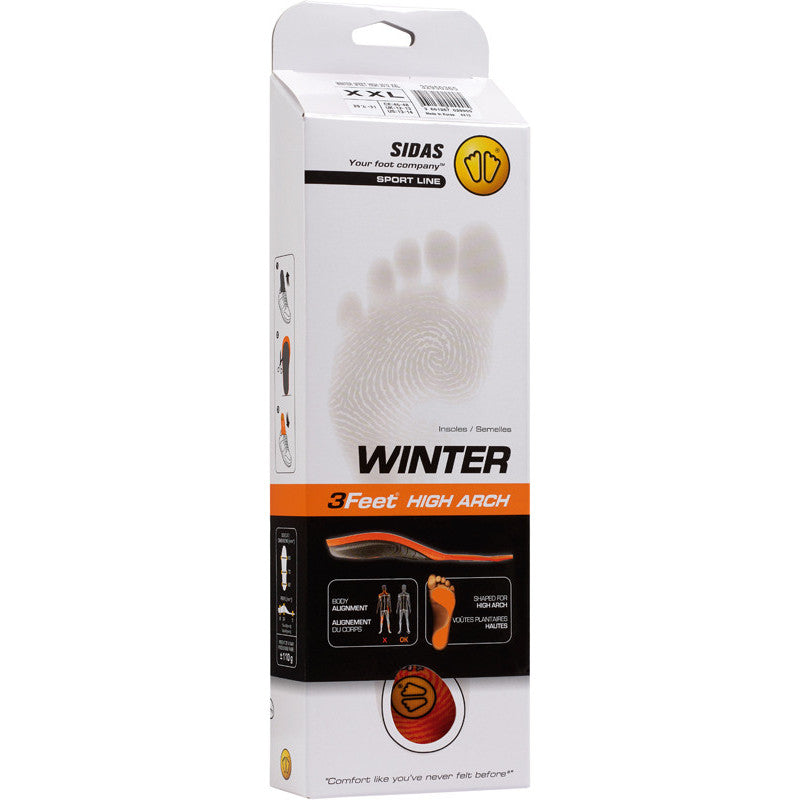 Sidas 3Feet Winter Insoles (3 Arch Heights)- Shop Skis and snow gear online nz - snowscene