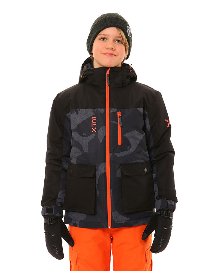 XTM Yama Jacket | Black Camo- Shop Skis and snow gear online nz - snowscene