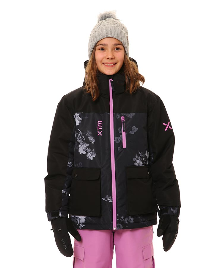 XTM Yama Jacket | Black Floral- Shop Skis and snow gear online nz - snowscene
