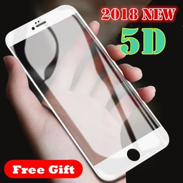 2018 New 5D Full Cover Tempered Glass For Iphone X /6 /6S /7 Plus /8 Plus - Screen Protectors - Paidcellphone