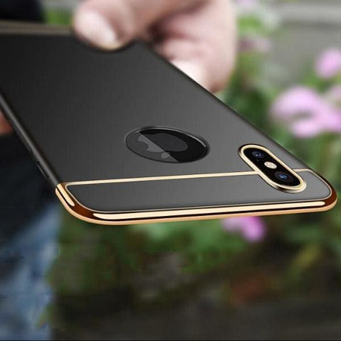 3 In 1 Ultra Thin Cover Plating Matte For Iphone X Cases - Iphone Cases & Bags - Paidcellphone