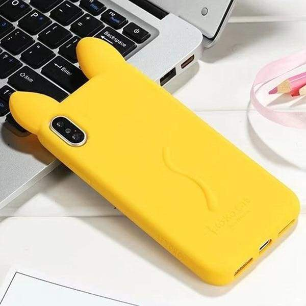 3D Cartoon Cute Cat For Iphone X Case - Yellow - Iphone Cases & Bags - Paidcellphone