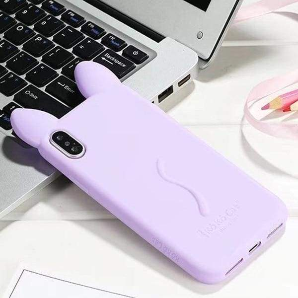 3D Cartoon Cute Cat For Iphone X Case - Light Purple - Iphone Cases & Bags - Paidcellphone