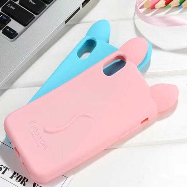 3D Cartoon Cute Cat For Iphone X Case - Iphone Cases & Bags - Paidcellphone